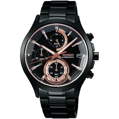 WIRED 東京聖誕限定計時腕錶(AY8011X1)-鍍黑/40mm
