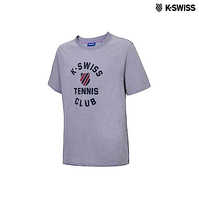 K-Swiss Tennis Club Tee印花短袖T恤-男-灰