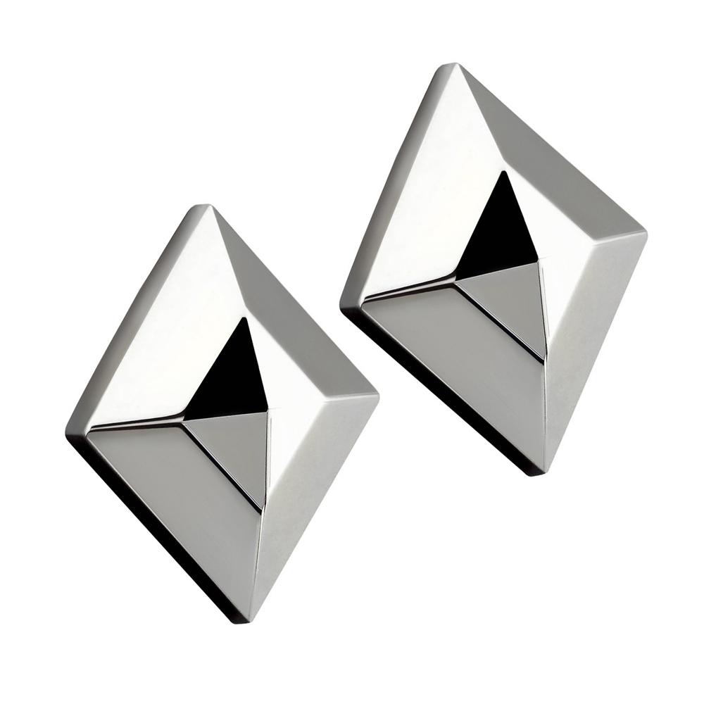 Royal Damon羅亞戴蒙 經典菱形 耳環(銀)