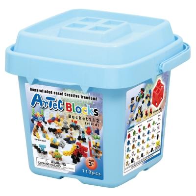 Artec日本彩色積木 - 收納積木桶112塊