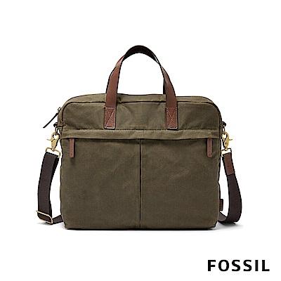 FOSSIL BUCKNER 手提大型工作包-綠色