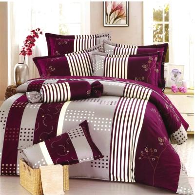 理性世代-紫 台灣製加大五件式純棉床罩組