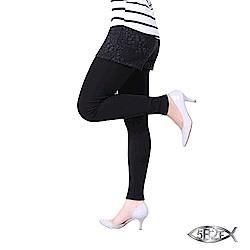 5B2F 五餅二魚 花瓣紋假兩件長褲