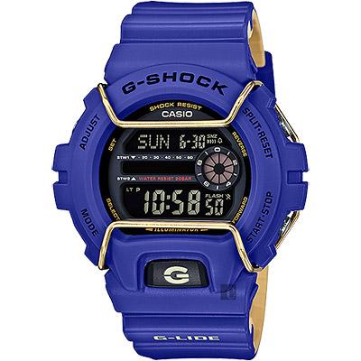CASIO卡西歐G-SHOCK抗寒極限腕錶-藍53mm