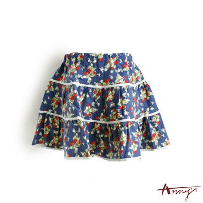 復古塗鴉蛋糕裙*0417藍