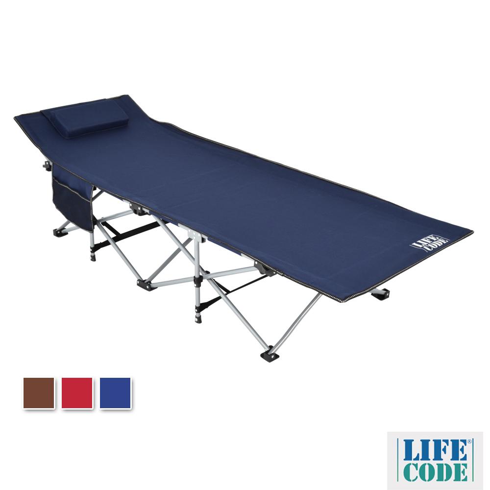 LIFECODE 豪華折疊床(附枕頭+置物側袋)