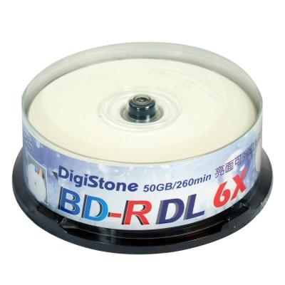 DigiStone 藍光 6X BD-R DL 50GB 光澤亮面 可印 桶裝 ( 25片)