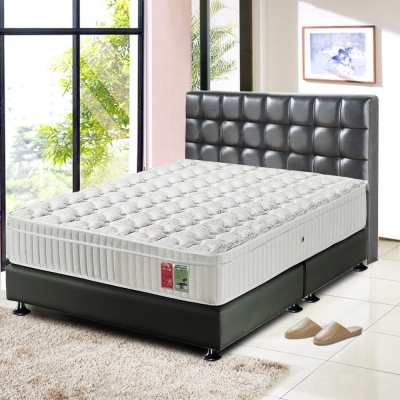 睡尚寶 飯店用厚三線蠶絲硬式獨立筒床墊-雙人加大6尺