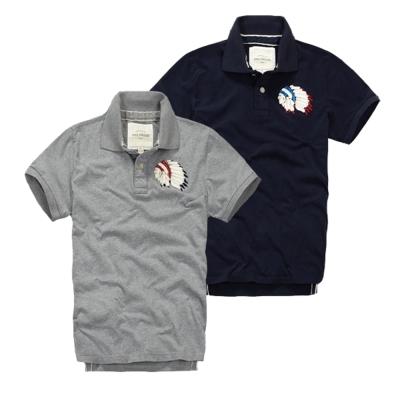 美國熊 美式大牌風格 圖騰徽章 高織棉料POLO衫