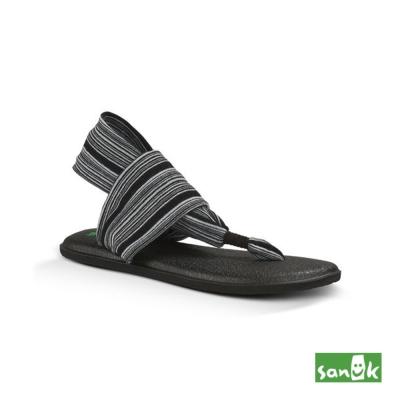 SANUK 條紋綁帶人字涼鞋-女款(雙色)