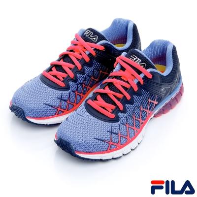 FILA女慢跑鞋-紫/橘5-J032R-466
