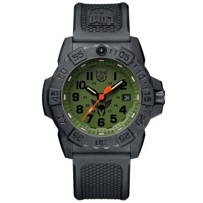 LUMINOX 雷明時TOUGH VIKING維京鐵人紀念腕錶-軍綠/45mm