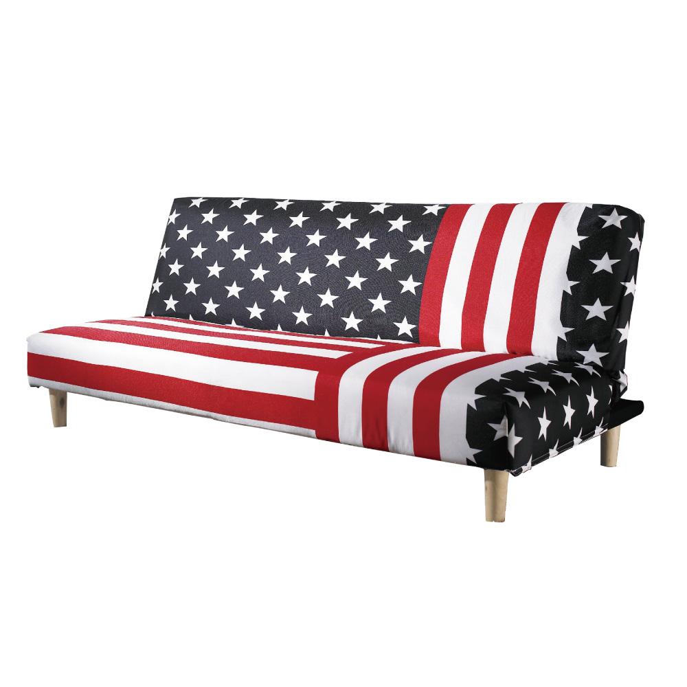 品家居 芭朵棉麻布展開式沙發床-180x85x78cm-免組