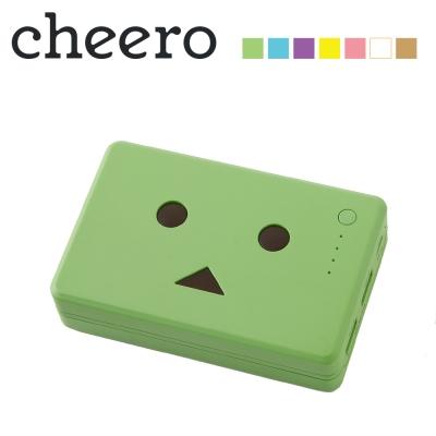 日本cheero花阿愣10050mAh雙輸出行動電源(2A快充)-四葉草/綠