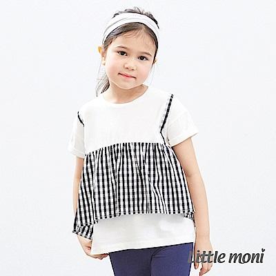 Little moni 假二件式上衣 黑色