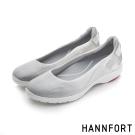 HANNFORT EASY WALK漸層網布氣墊休閒鞋-女-雪花白