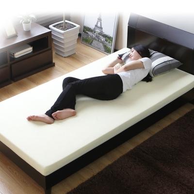 記憶床-日本高密度舒適毛絨布3-5尺8CM記憶墊-三色