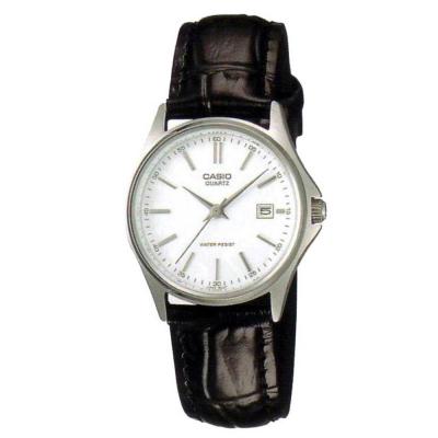 CASIO 羅馬時尚精緻淑女腕皮帶錶(LTP-1183E-7A)-白/28mm
