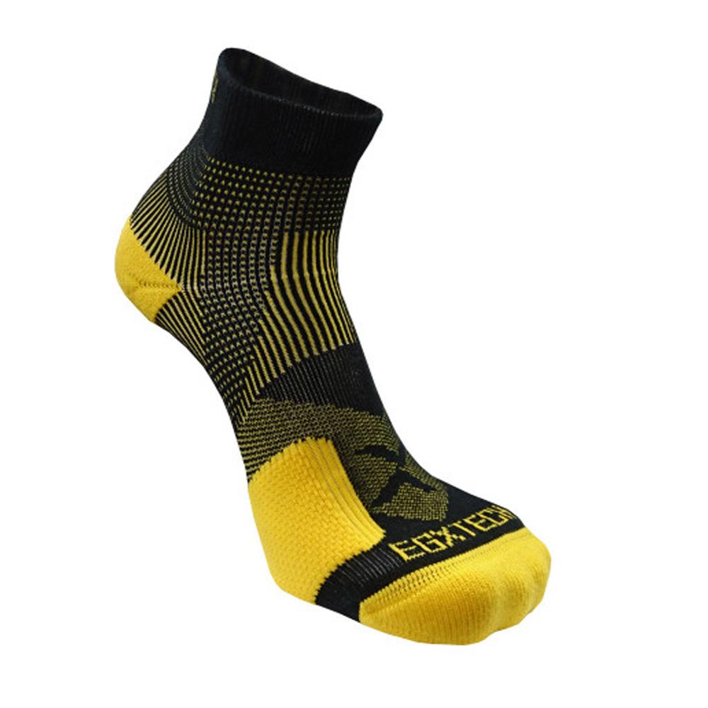EGXtech P82L 側向保護8字繃運動襪(黑/黃)(2雙入)