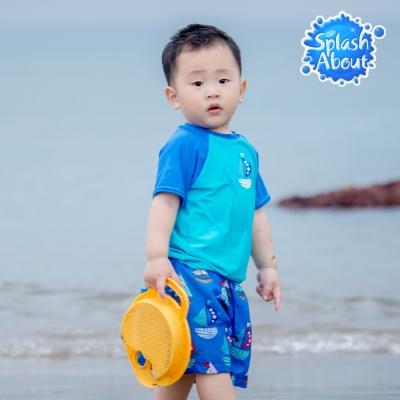Splash About 潑寶 兒童抗 UV 防曬泳衣 -普普風帆船 上衣
