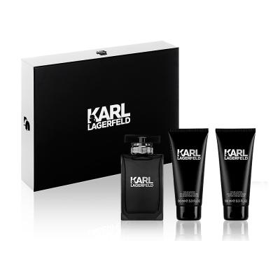 KARL LAGERFELD 卡爾時尚男香禮盒(淡香水100ml+鬍後乳100ml+沐浴精