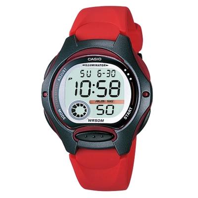 CASIO 超時空玩家電子錶(LW-200-4A)-紅/34.9mm