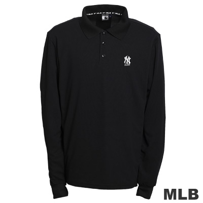 MLB-紐約洋基隊LOGO排汗POLO衫-黑-男