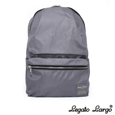 Legato Largo 霧面光澤感尼龍後背包 灰色