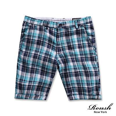 ROUSH 麻料設計格紋時裝短褲 (2色)