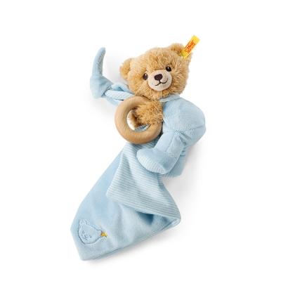 STEIFF德國金耳釦泰迪熊 - Sleep Well Bear Blue(嬰幼兒安撫巾)