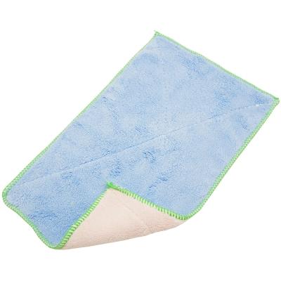 雙面加厚超細纖維雙層不卡油抹布洗碗巾超值6入(3232)