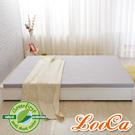 LooCa 法國Greenfisrt天然防蹣防蚊5cm乳膠床墊-灰 雙人5尺