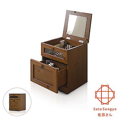【Sato】PISTRO巴黎公寓一抽掀蓋化妝收納櫃