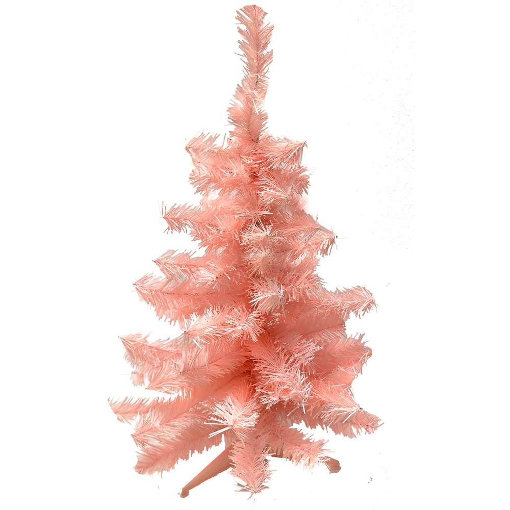 台製2尺(60cm)經典粉紅色聖誕樹裸樹