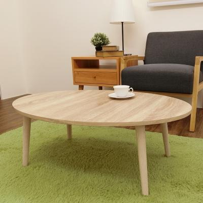 Amos精緻美學圓形和室桌-淺漂流木色-W90*D60*H31.5CM