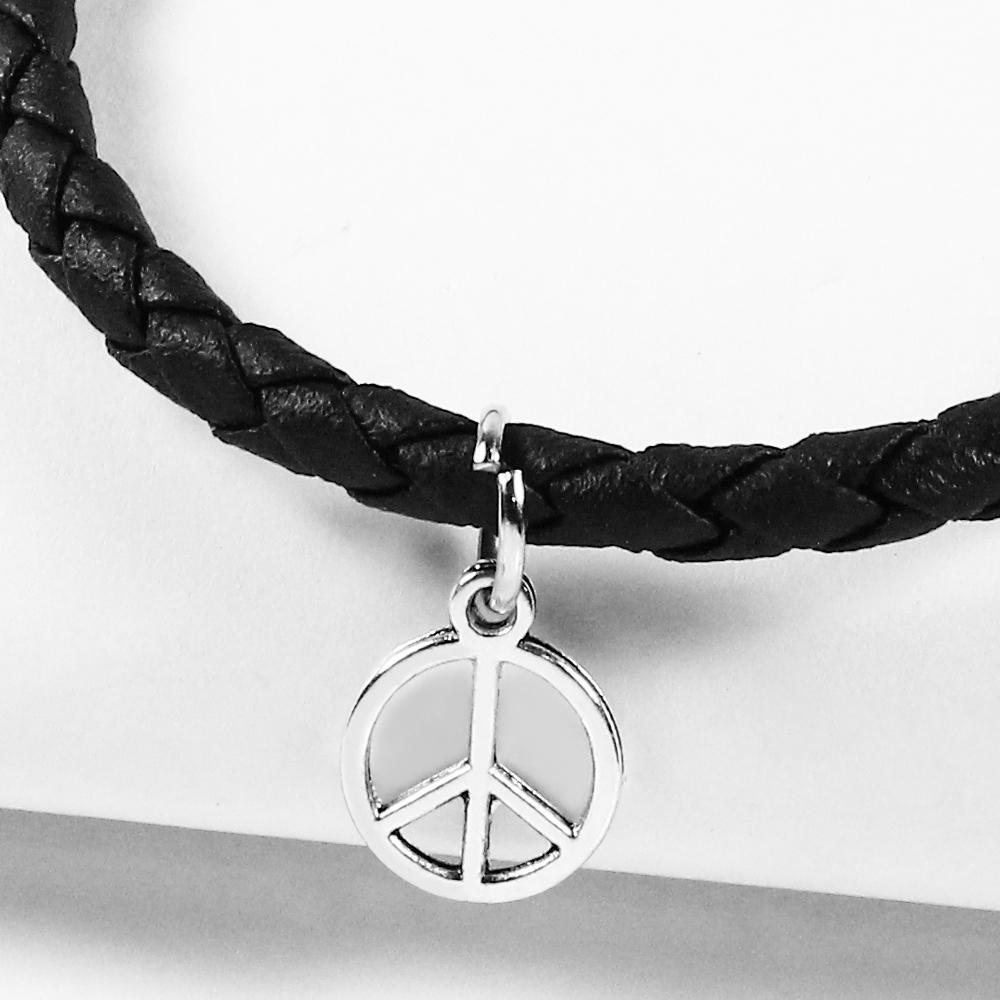 A1寶石  和平-Endless混搭元素-仿真皮繩編織手鍊(含開光)