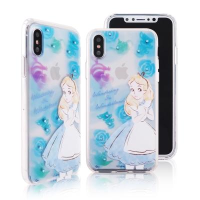 Disney迪士尼iPhone X施華洛世奇水鑽雙料保護殼_經典手繪愛麗絲