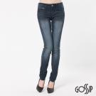 Gossip-低腰緊身窄款褲-深藍