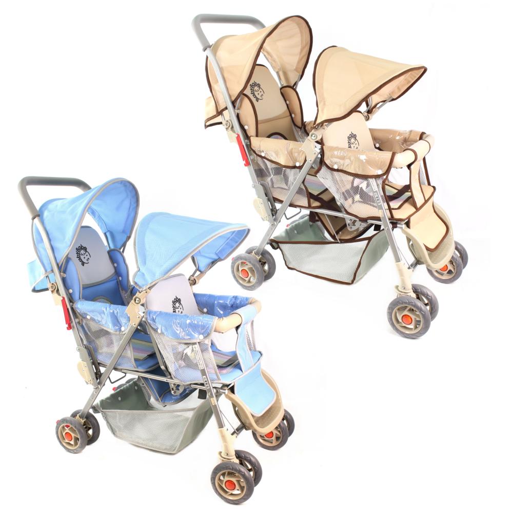 【Babybabe】雙人推車