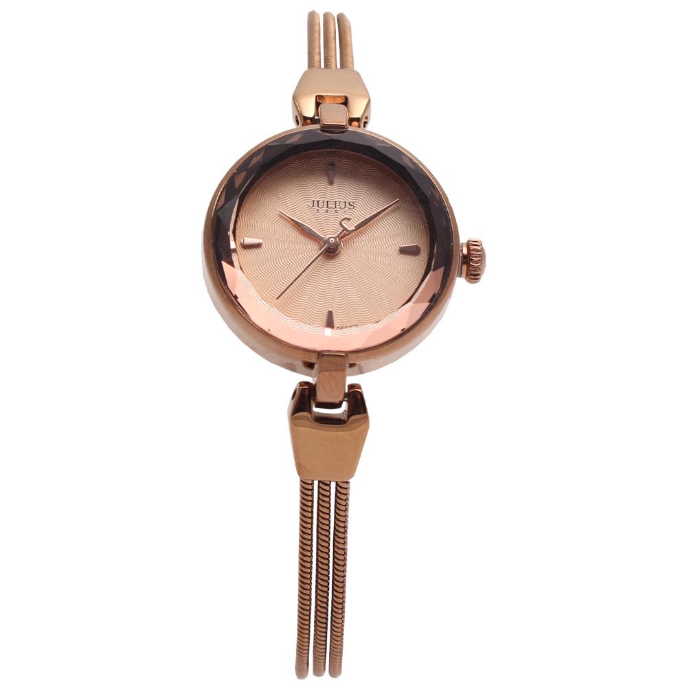 JULIUS聚利時艾莉兒的海螺貝殼面鍊飾腕錶-古銅金25mm