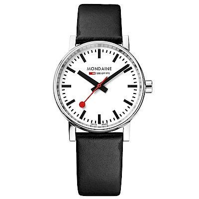 MONDAINE 瑞士國鐵evo2腕錶-35mm/白