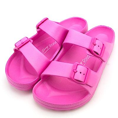 24H-Roadpacer-女雙釦環休閒拖鞋BS020PIK-桃紅
