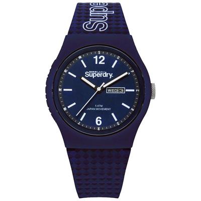 Superdry極度乾燥 無止境狂奔運動腕錶-SYG179UU-42mm