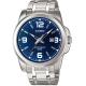 CASIO 簡約經典時尚指針日曆腕錶(MTP-1314D-2)藍面/44.9mm product thumbnail 1
