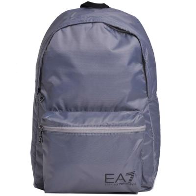 EMPORIO ARMANI EA7 品牌圖騰LOGO尼龍後背包(灰)