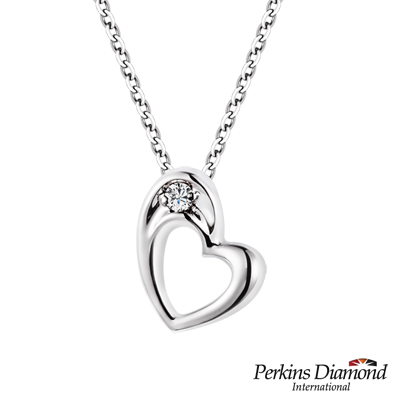 PERKINS 伯金仕 - Heart系列 0.03克拉鑽石項鍊