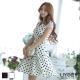 LIYO理優韓系洋裝圓點連身裙洋裝(白)