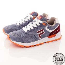 FILA 女款 復古休閒慢跑鞋~藍橘 5-J311R-996