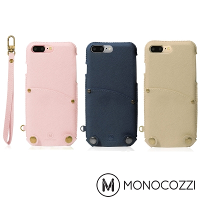 MONOCOZZI Posh iPhone 7 Plus 掛繩口袋皮套