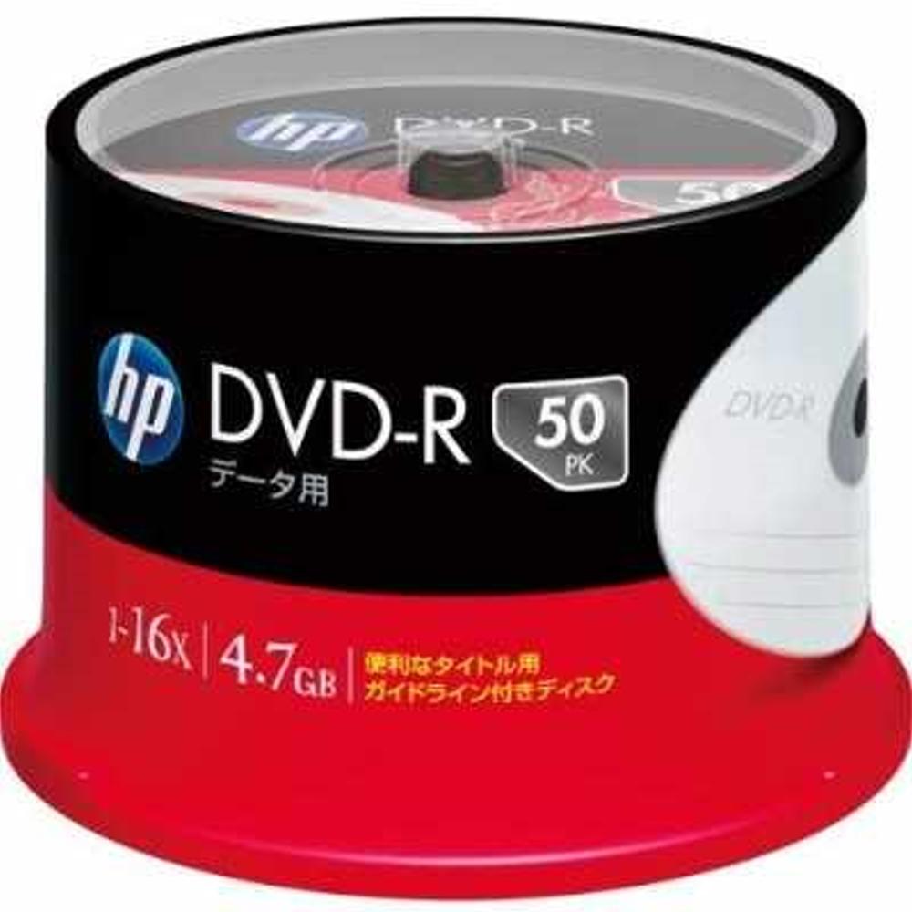 HP 日本限定版 16X DVD-R  4.7GB 桶裝 (50片)